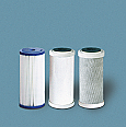 "Set of Three 10"" BB Filters–Sediment, Carbon, GAC"